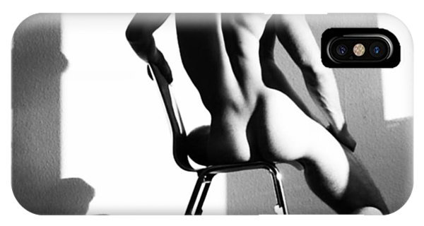 Nude Man On Chair IPhone Case