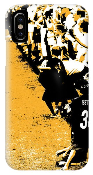 Number 1 Bettis Fan - Black And Gold IPhone Case