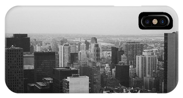 New York City Taxi iPhone Case - Nyc From The Top 3 by Naxart Studio