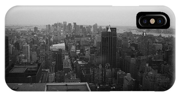 New York City Taxi iPhone Case - Nyc From The Top 5 by Naxart Studio