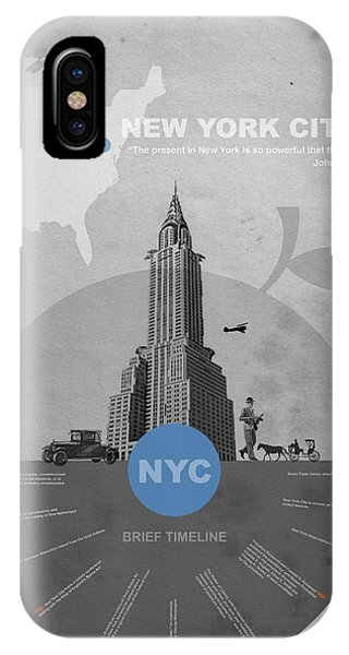 Old Building iPhone Case - Nyc Poster by Naxart Studio