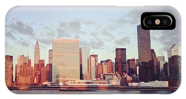 City iPhone Case - Nyc Sunrise by Randy Lemoine