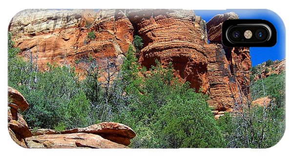 Oak Creek Canyon Balanced Rock IPhone Case