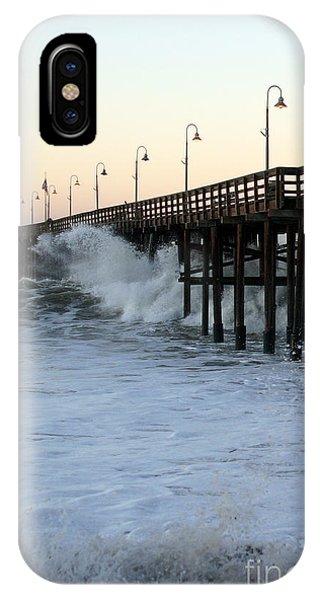 Ocean Wave Storm Pier IPhone Case