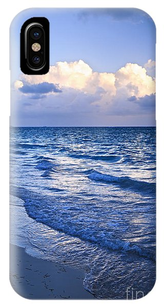 Surf iPhone Case - Ocean Waves On Beach At Dusk by Elena Elisseeva
