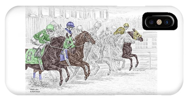 Odds Are - Tb Horse Racing Print Color Tinted IPhone Case