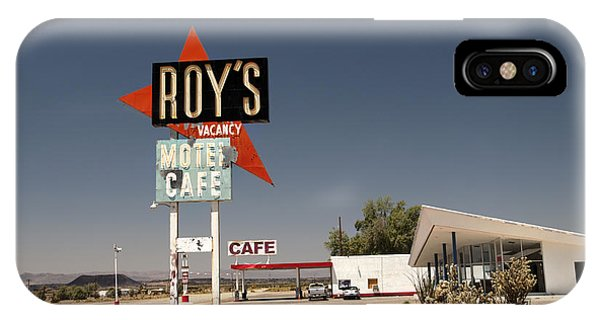 Middle Of Nowhere iPhone Case - Route  66  Roys by Joe Schofield