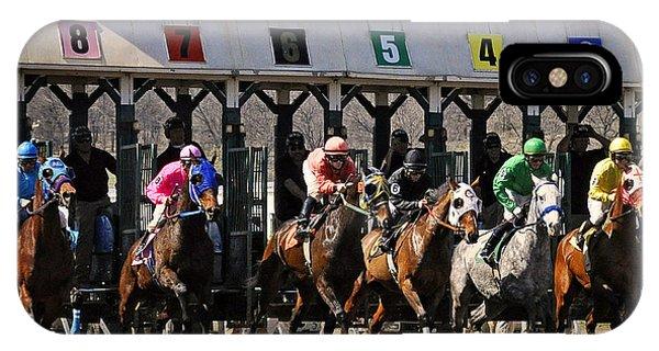 Oklahoma Horse Racing IPhone Case