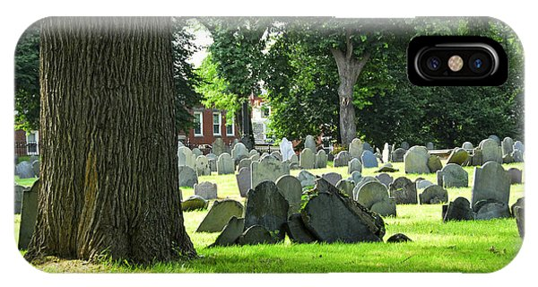 Old Cemetery In Boston IPhone Case