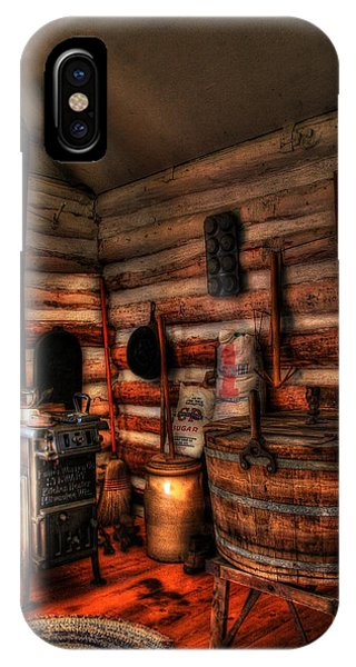 Old Log Cabin IPhone Case