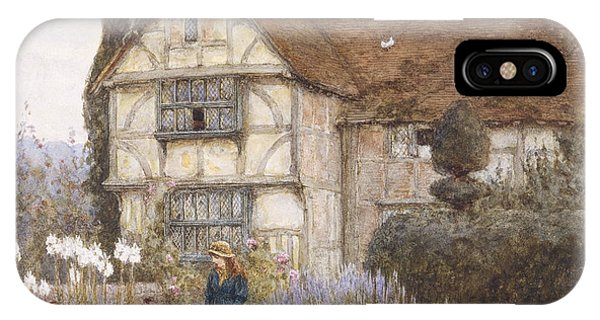 Garden iPhone X Case - Old Manor House by Helen Allingham