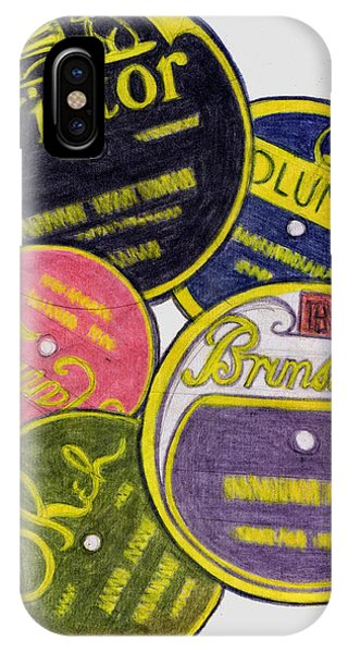 Old Record Labels IPhone Case
