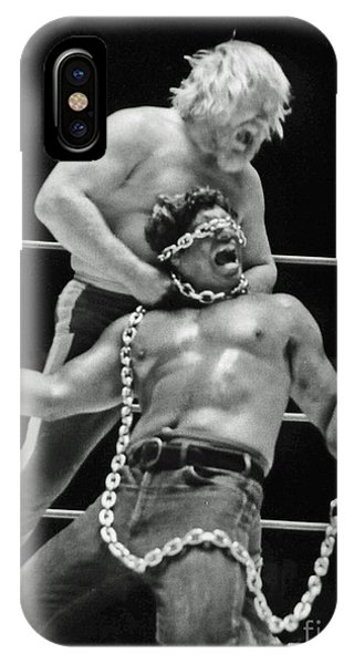 Old School Wrestling Chain Match Between Moondog Mayne And Don Muraco IPhone Case