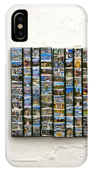 Old Spanish Postcards In Spanish Village Phone Case by Perry Van Munster