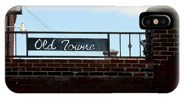 Old Towne Sign IPhone Case
