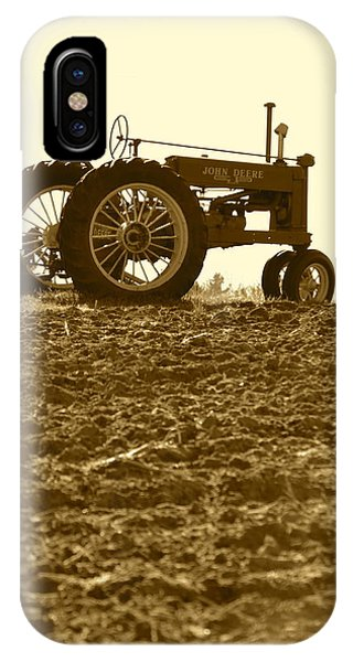 Old Tractor I In Sepia IPhone Case