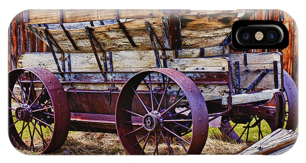 Wagon Wheel iPhone Case - Old Wagon Bodie Ghost Town by Garry Gay