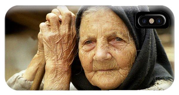 Old Woman In Vrancea Romania IPhone Case