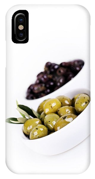 Greece iPhone X Case - Olive Bowls by Jane Rix