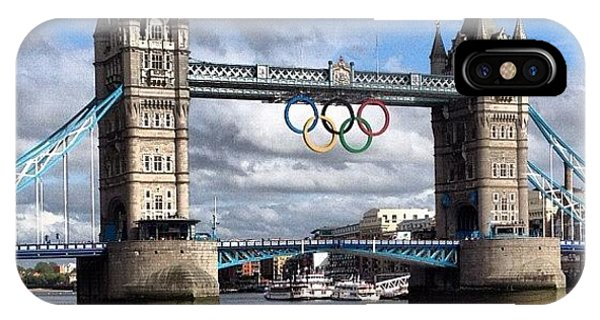 London2012 iPhone Case - Olympic Rings On Tower Bridge #london by Luke Cameron