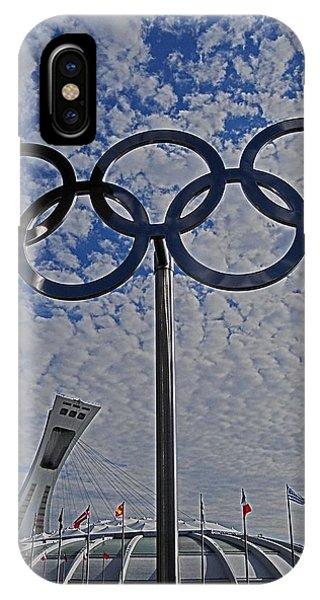 Olympic Stadium Montreal IPhone Case