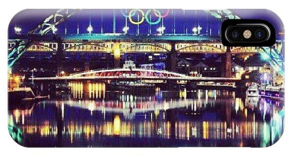 London Bridge iPhone Case - Olympic Tyne Bridge by Lynda Larbi