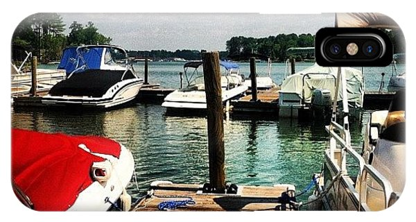 View iPhone Case - On The Dock by Lea Ward