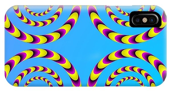 Optical Illusion Spinning Water Lilies IPhone Case