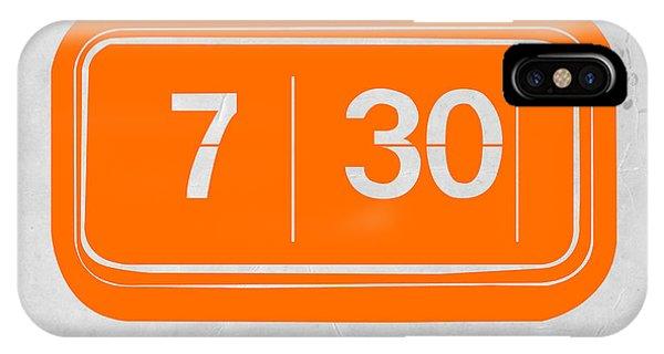 Electronic iPhone Case - Orange Alarm by Naxart Studio