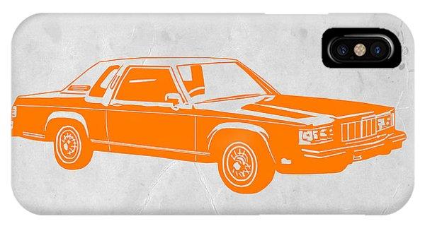 Classic Cars iPhone Case - Orange Car by Naxart Studio
