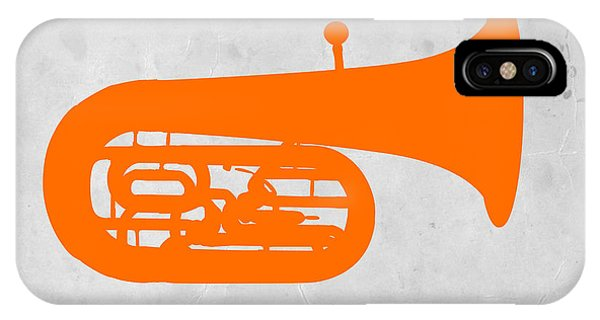 Trombone iPhone Case - Orange Tuba by Naxart Studio