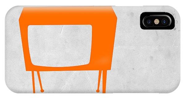 Retro iPhone Case - Orange Tv by Naxart Studio