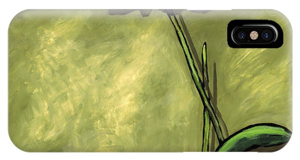Orchid On Olive IPhone Case