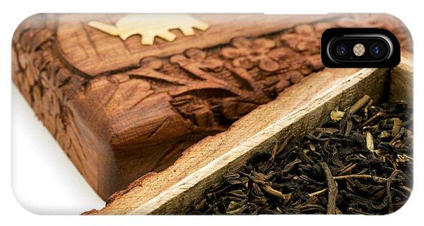 Ornate Box With Darjeeling Tea IPhone Case