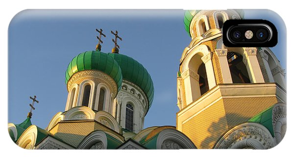 Orthodox Church Of Sts Michael And Constantine- Vilnius Lithuania IPhone Case