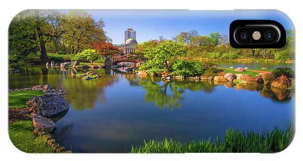 Osaka Garden Pond IPhone Case