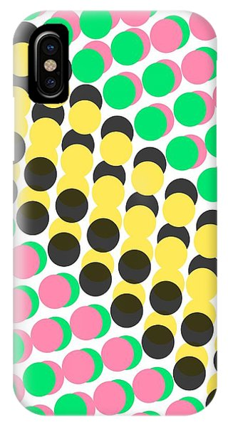 Repeat iPhone Case - Overlayed Dots by Louisa Knight