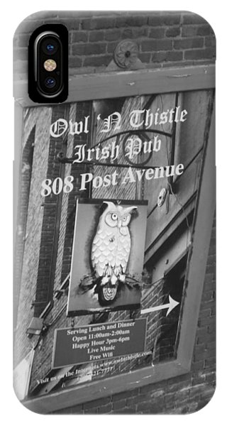 Owl And Thistle Irish Pub IPhone Case