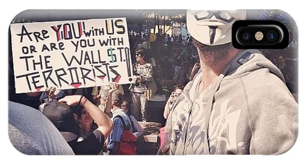 Instagram iPhone Case - Ows Occupy Wall Street by Randy Lemoine