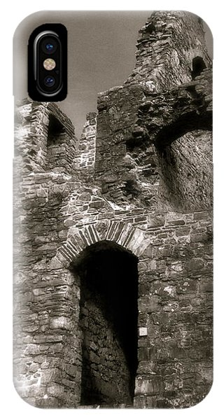 Oystermouth Castle Ruins Detail IPhone Case