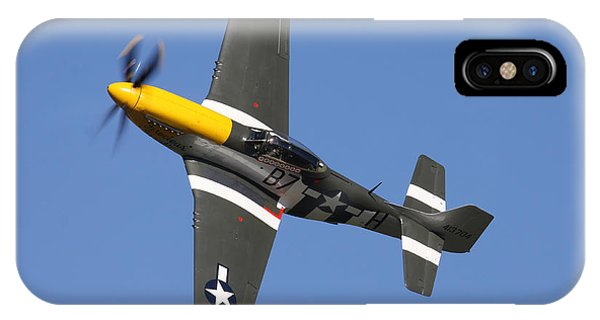 P51 Mustang Cadillac Of The Skies IPhone Case