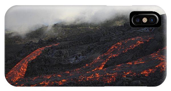 Pyroclastic Flow iPhone Case - Pacaya Lava Flows, Guatemala by Martin Rietze
