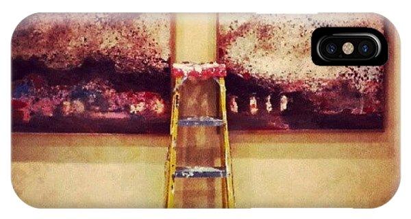 #paint #colors #ladder #wall #jordan IPhone Case