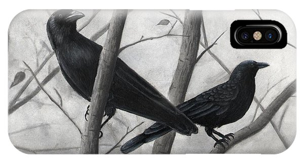 Pair Of Crows IPhone Case