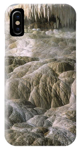 Mammoth Hot Springs iPhone Case - Palette Spring  by Sandra Bronstein