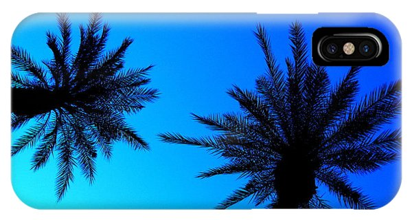 Palm Trees At Dusk IPhone Case