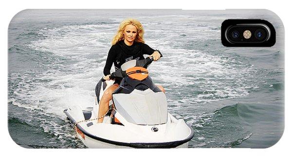 Jet Ski iPhone X Case - Pamela Anderson Is A Jet Ski Vixen by Nina Prommer
