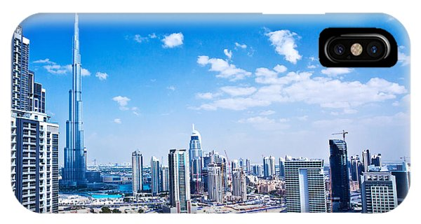 Panoramic Image Of Dubai City Phone Case by Anna Om