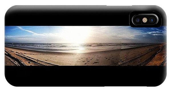 Beautiful Sunrise iPhone Case - Panoramic Picture Of The Sunrise by Lea Ward