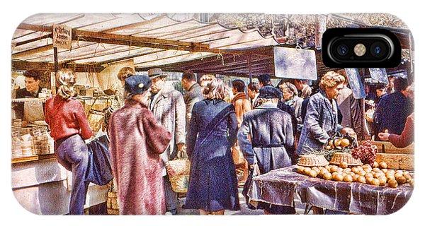 Parisian Market 1954 IPhone Case